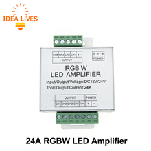 LED RGBW Amplifier DC12/ 24V 24A 4 Channel Output RGBW LED Strip Power Repeater Console Controller
