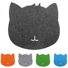 2018 1PC Cat Shape Design Mouse Pad Gaming Keyboard Pad Laptop Computer Mouse Pad Blue Gray Colors(China)