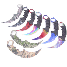 cs go counter hunt night strike hawkbill tactical claw karambit neck knife real combat fight camp hike outdoor defense(China)