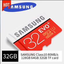 100% Original SAMSUNG Micro SD card 64GB Memory Card EVO Plus 128GB Class10 TF Card 32GB C10 80MB/S SDHC SDXC UHS-1(China)