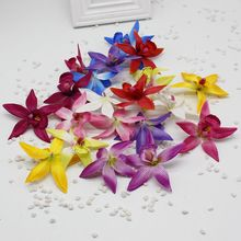 2pcs/lot cheap Silk Butterfly Orchid Artificial Flower for home Wedding Car Decoration Bride Bouquet Wrist Cymbidium Flowers
