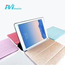 IVI Cover for i Pad Air 2 Case Mini 4 3 2 Pro 9.7 Case 2017 New Luxury Matte Leather Flip Cases Rose Gold Pink Lake Black White(China)