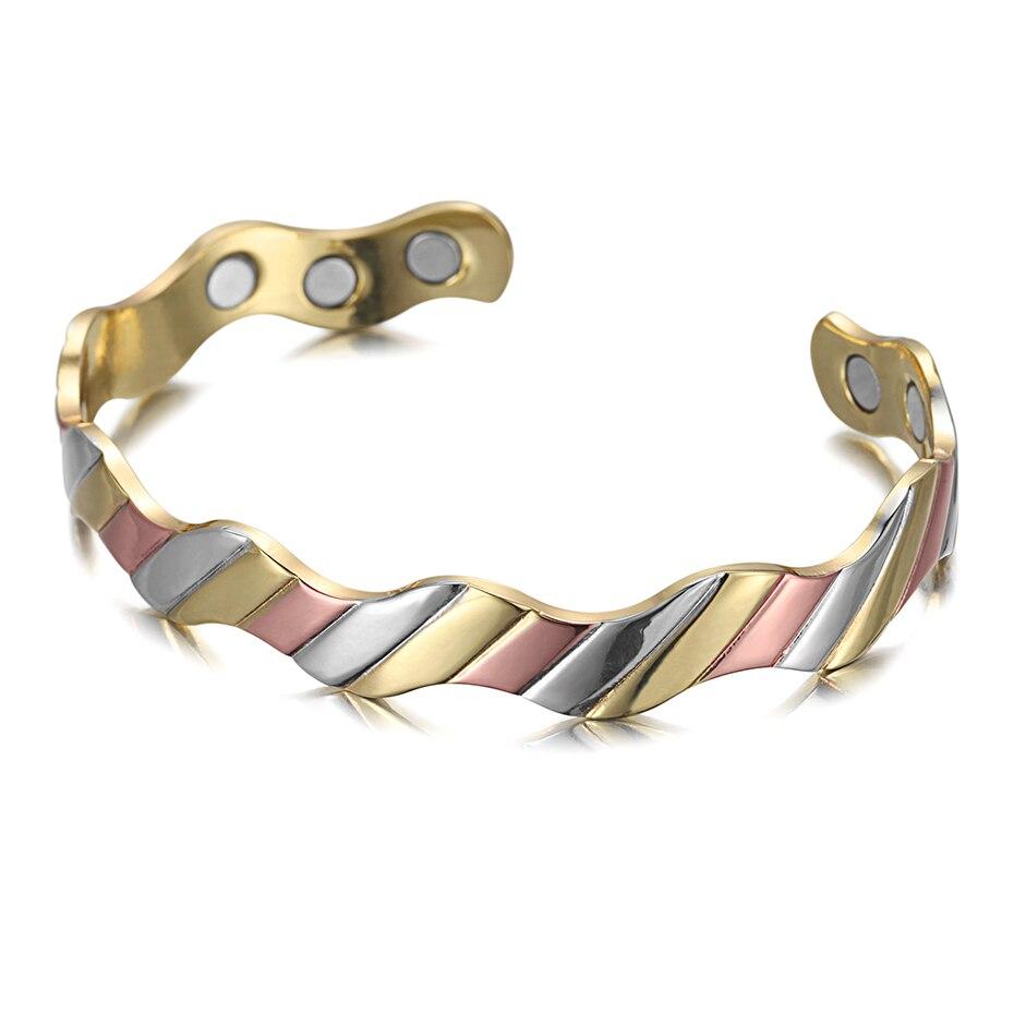 Copper Magnet Healthy Bio Energy Bracelets Bangles  (5)