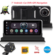 XGODY 7 inch Car Camera Android With Navigator GPS 512MB+16GB Rear View Mirror DVR Camera Recorder Wifi Dashcam Full HD 1080P(China)