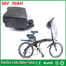 Free customes taxes Hot 36v 30ah lithium ion battery packs frog type 36volt 1000w electric bicycle battery with BMS and charger