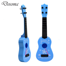 Children's Educational Colorful Mini Guitar Toys 4 String Mini Artistic Guitar Baby Kids Simulate Musical Instruments Toys Gifts(China)