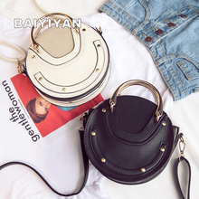 2017 New Fashion Mini PU Leather Handbag One Shoulder Cross-body Bag Small Round Package Women bag