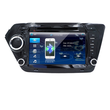 Car MonitorDVD Player for KIA RIO K2 with Radio,GPS Navigation,TV,SWC,BT,USB/SD,Russian menu,Free 8GB Map Steering wheel control