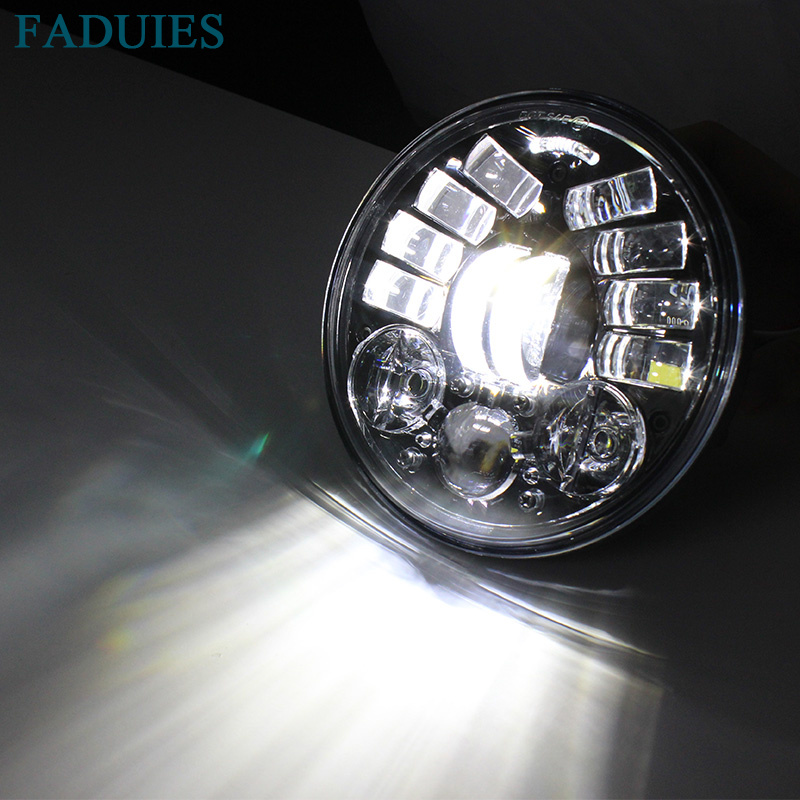 FADUIES 2018 New Motos Accessories 5.75 Adaptive Headlight Motorcycle for Harley 5-34 Motorcycle Black Projector Daymaker (10)
