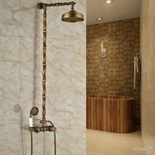 "Modern Single Lever Rainfall 8"" Shower Head Bath Shower Faucet Wall Mounted Shower System with Handshower"