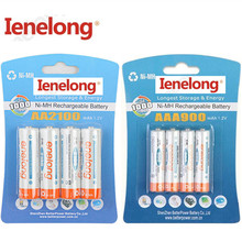 Ienelong  4Pc/1card 1.2V 2100mAh AA Batteries+4Pcs/1card 900mAh AAA Batteries NI-MH AA/AAA Rechargeable Battery
