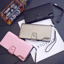 free shipping new fashion brand women's wallets clutches wristlets purse cards coins phone holder good pu leather wholesale