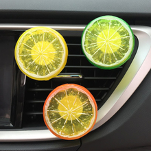 Cute Acrylic Lemon Apple Car Outlet Vents Fragrant Perfume Clip Decoration Air Freshener Diffuser Automobile Decor Ornament(China)