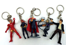 5pcs/lot 4.5cm anime movie the avenger action figure set keychain best kids toys for boys(China)