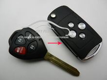 4 Buttons Car FOB Key Case For Toyota Camry Taiwan Wish 3+1 Buttons Modified Flip Folding Remote Key Shell