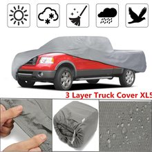 3 Layer Premium Truck Cover Outdoor -Tough Waterproof Lining Pickups Size XL5(China)