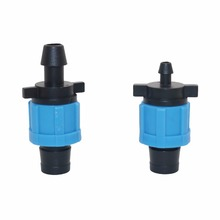 "20 pcs Drip Tape 5/8"" Lock Offtake Drip Irrigation Pipe Fittings Lock Nut Fitting For Irrigation water hose connector(China)"