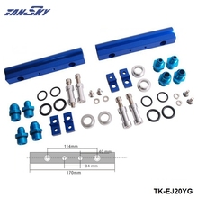 TANSKY - For SUBARU WRX STI EJ20 EJ20T STI Top feed Injector Fuel Rail Turbo Kit Blue Aluminium Billet HQ JDM TK-EJ20YG(China)