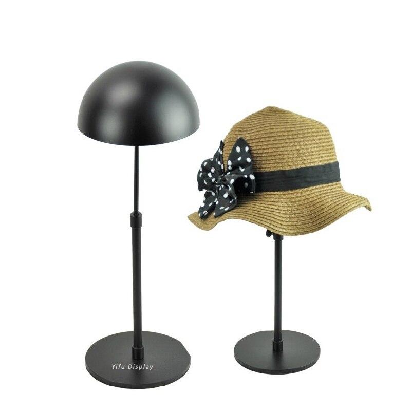 Металл бесплатной доставки стеллаж для выставки товаров черной шляпы витрины Хэт, держатель Хэт Хэт выдерживает кепку показа кепки, выдерживает HH003