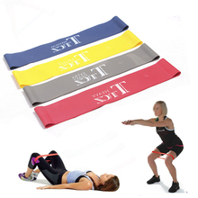 4 levels Rubber LOOP Latex Resistance Bands Fitness equipment Stretch yoga leg training elastic band workout power pilates GYH
