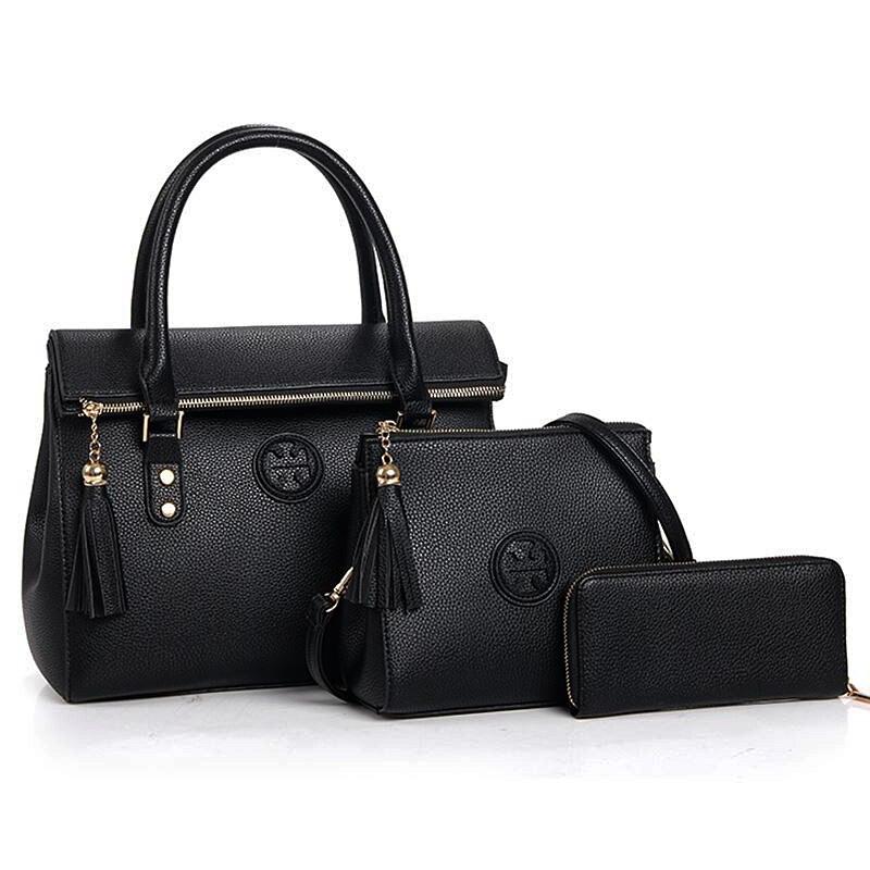 Women Handbags Leather Ladies Shoulder Bags Luxury Brand Designs Famous Bags Handbag Purse Messenger Bag 3 Pcs Composite Bags<br>