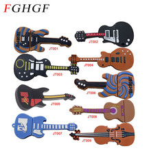 FGHGF plastic guitar usb flash drive musical instrument memory stick electric guitars thumb drive 8GB 16GB 100% real capacity