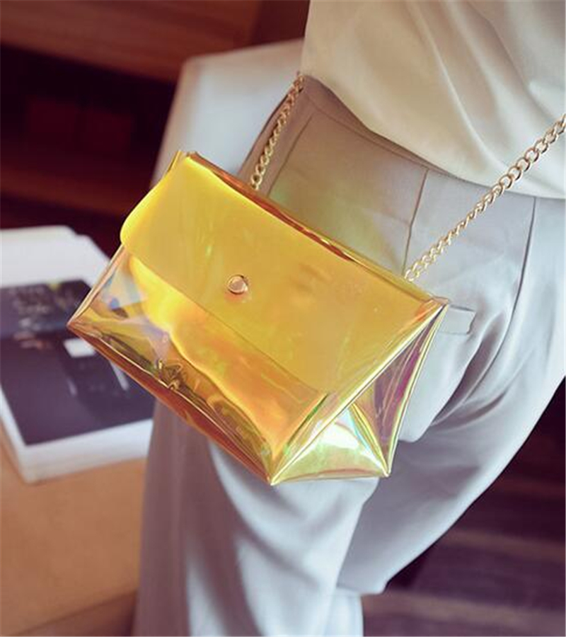 Summer Style Women Bag 2017 Fashion Chains Jelly Bag Transparent Women PVC Messenger Bags Womens Beach Bags<br><br>Aliexpress