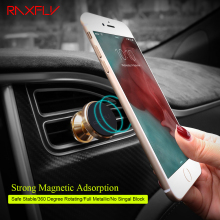RAXFLY Universal Magnetic Dock GPS Navigate 360 Car Phone Holder For iPhone 7 6 Charger Desk For Samsung Huawei Xiaomi Mate 9 P9(China)