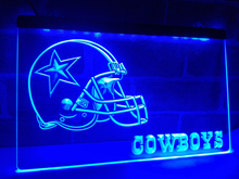 LD317- Dallas Cowboys Helmet LED Neon Light Sign home decor crafts