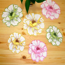 Free Shipping New Organza FLower Coffee Mat Dinning Mixed Mat Placemat Table Clothes Tea Mat Table Wall Decoration gift(China)