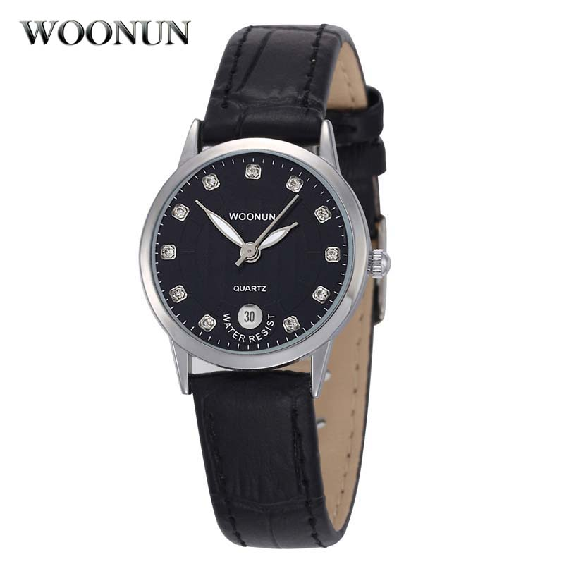 New Casual Ladys Wristwatch WOONUN Top Brand Luxury Female Watches Genuine Leather Waterproof Quartz Ultra Thin Women Watches<br><br>Aliexpress