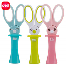 Deli Craft Scissors For Needlework Kawaii Rabbit Kids Scissors Students Scrapbooking Paper Scissor School Supplies Stationery