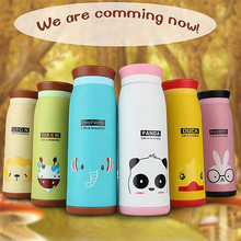 500ml Stainless Steel Cute Cartoon Animal Thermos Travel Mug Vacuum Cup Bottle