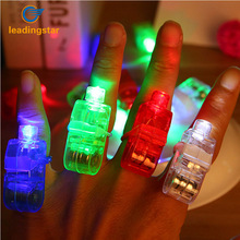 LeadingStar 40pcs Bright LED Laser Finger Ring Light Lamp Beams Torch Multi-color for Party KTV Bar Gift Hot Selling zk30(China)