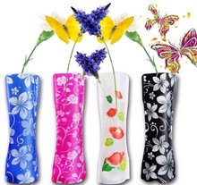 eco-friendly special toys Foldable folding flower PVC Durable Vase Home Wedding Party easy to store wholesale retail