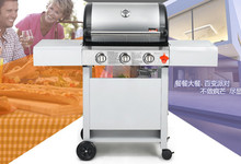 three burners gas BBQ grill, gas stove,gas oven,outdoor BBQ grill with motor,two burners BBQ grill