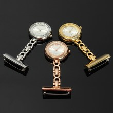 New Arrival Nurse Vest-Pocket Fob Watch Portable Stainless Steel Arabic Numerals Quartz Brooch Doctor Hanging Pendant Watches