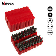 Binoax Security Tamper Proof Bit Set 33pc Torq Torx Hex Star Spanner Tri Wing Screwdriv Magnetic Holder