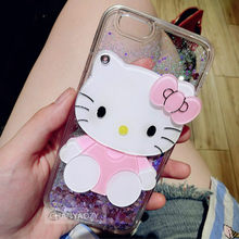 Mirror Phone case For Xiaomi Redmi 5A Cases Silicone Cute Kitty Liquid Glitter TPU Soft Cover For Xiaomi Redmi 5A Covers(China)
