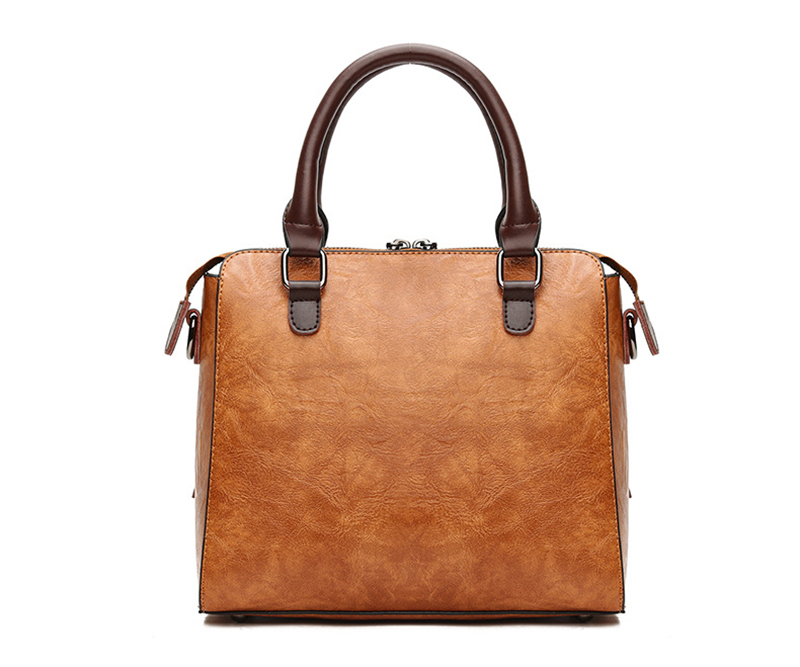 pure leather bag vertical