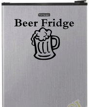 "Free shipping ""Beer Fridge"" Vinyl Decal Sticker for Mini Refrigerator Decoration(China)"
