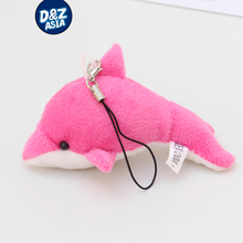 10pcs/lot Free shipping Wholesale plush toys dolphins small doll keychain pendant giveway wedding gifts