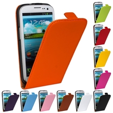 "Vertical Flip Cover Cow Split Magnetic Genuine Leather Case For Samsung Galaxy S3 SIII S 3 i9300 9300 4.8"" Plastic Phone Cases"