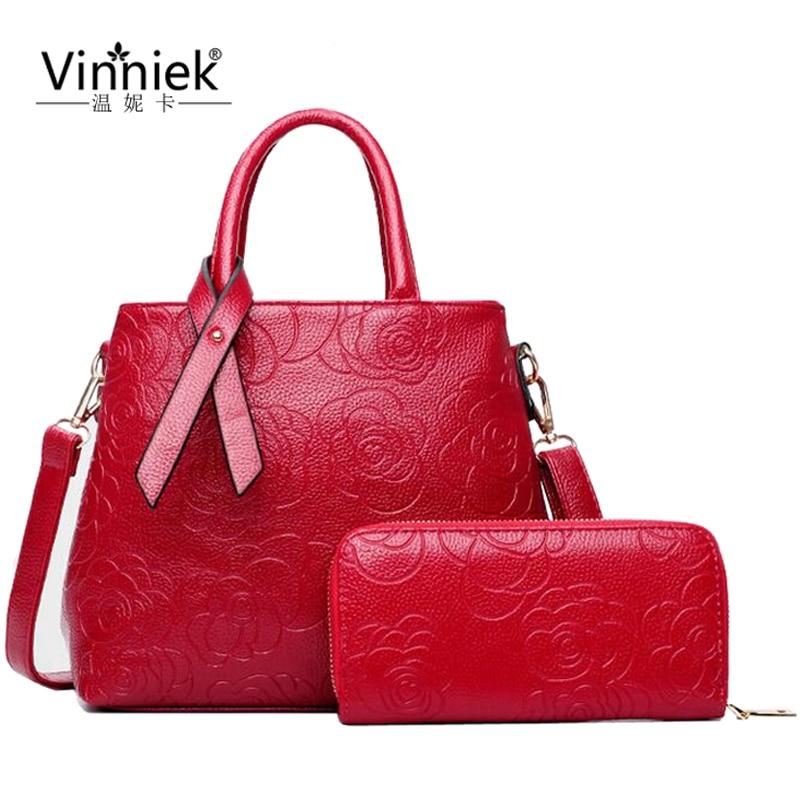 Famous Brands Women Purses And Handbag Luxury Designer Flowers Fashion Large Shoulder Bag High Quality PU Leather Composite Bag <br><br>Aliexpress