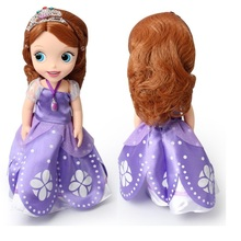 Hot fashion Original edition sofia elsa anna the First princess Bobbi doll VINYL toy boneca accessories Doll For Kids Best Gift()