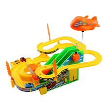 1Set Mini DIY Assemble Race Track with Car Kids Handwork Racing  Car Game Electric Car Racing Track Toy