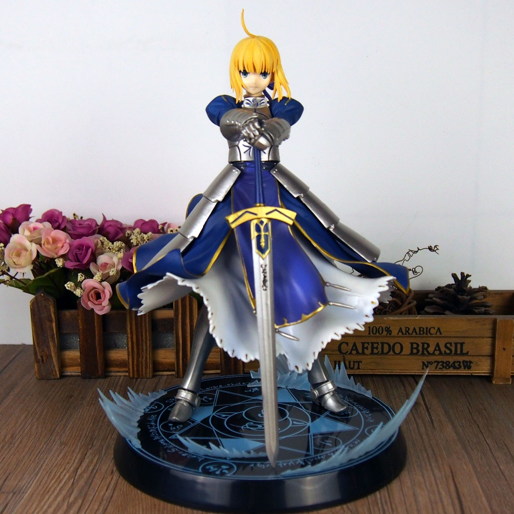 25cm Japanese anime figure Fate stay night UBW Saber King of Knights Action Figure Collection Model Toy<br><br>Aliexpress