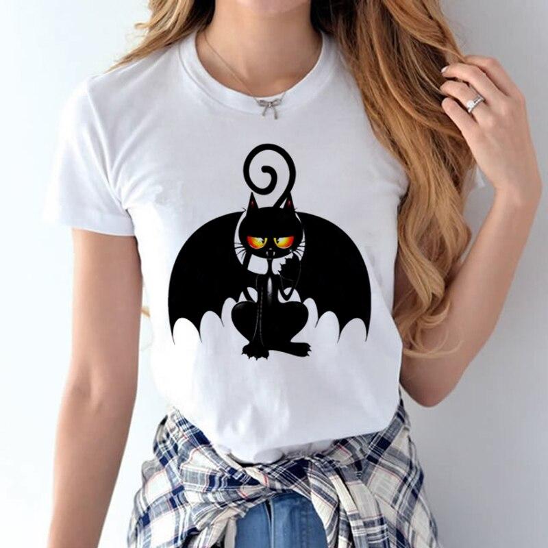 100% Coton 2018 Femmes T chemises D'été Amour Imprimé T-shirt Bande Dessinée Occasionnel de Court Manches Shirt Tops Plus La Taille Blanc T-shirt 17