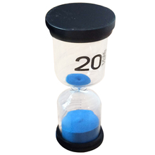 Practical Boutique 1 Blue Glass + Sand 20 minute tick time Hourglass With packaging 13*4.3cm