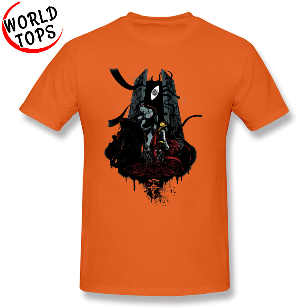 Funny T Shirt Cheap Round Neck FullMetal Tee 20549 100% Cotton Man Tees Casual Short Sleeve Tee-Shirt Top Quality FullMetal Tee 20549 orange